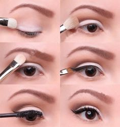 """From Courtney's Femme Beauty Work board. I'm not much of a makeup-wearer, but it's nice to know how to wear it occasionally. """"light smokey eye"""""""