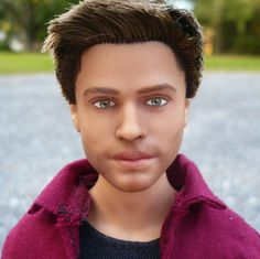 OOAK Dean Winchester Supernatural Custom Repainted / Rerooted Ken Doll with Custom Outfit by Allison May Custom Dolls