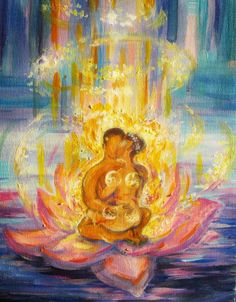 the alchemy of our love is golden Sacred Union - Art by Julia Legchanova Tantra Art, Twin Flame Love, Twin Flames, Flame Art, Twin Souls, Arte Popular, Visionary Art, Erotic Art, Lovers Art