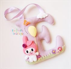 """Crafters Boutique: My Melody Theme Monogram """"E"""""""