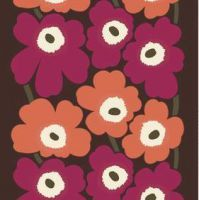 Unikko HW Cotton Fabric by Marimekko Motifs Textiles, Textile Patterns, Textile Design, Print Patterns, Floral Patterns, Wallpaper Doodle, Pattern Wallpaper, Pantone, Marimekko Fabric