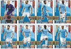 Match Attax 2015/2016 Manchester City Team Base Set Plus Star Player, Captain & Away Kit Cards 15/16 #mancity