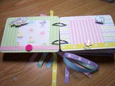 Baby Shower Mini Album Chipboard Scrapbook by HampshireRose