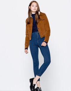 High-waisted skinny jeans - Jeans - Denim - HIDDEN - PULL&BEAR Ukraine