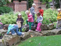 I want a rock garden in our back yard for climbing on :)