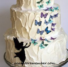 Fairy and butterflies set for cake decorating. by ACakeToRemember