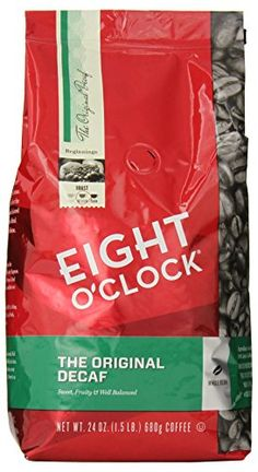 Eight O'Clock The Original Decaf Whole Bean Coffee, 24 Ounce Eight O'Clock Coffee http://www.amazon.com/dp/B00BG4LMLU/ref=cm_sw_r_pi_dp_8IJZwb155KTS6