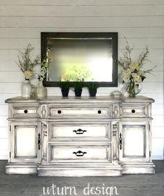 Merveilleux White Buffet With Grey Glaze By UTurn Design Https://www.facebook.
