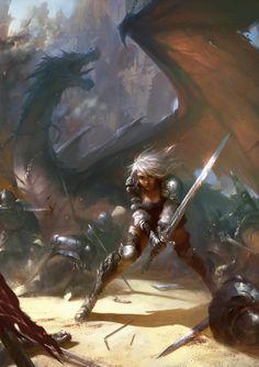 Heróico o suficiente para estarem nesta pasta sem que o guerreiro esteja montado no seu dragão.