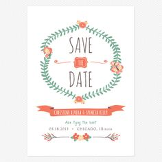 Live and Love Save the Date Postcards www.lovevsdesign.com