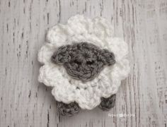 Repeat Crafter Me: L is for Lamb: Crochet Lamb Applique