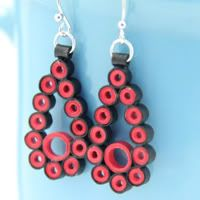 Make Your Own Paper Chain Quilling Bead Earrings