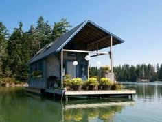 Tiny Floating House Maine Home and Design...ooooo love living on the water! every morning what a great place to have your coffee!!! :O