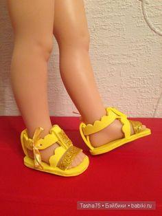 Сандалии для кукол Paola Reina / Одежда и обувь для кукол - своими руками и не только / Бэйбики. Куклы фото. Одежда для кукол