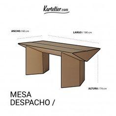 Kartelier | Muebles de cartón - Mesa de despacho de cartón