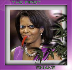 Mrs Obama as a reptile