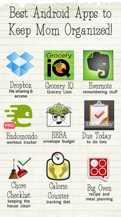 {for when I get a smartphone again}Best Apps to Keep Mom Organized