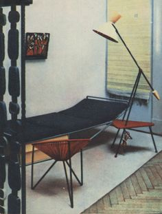 Daybed Bedding, Mcm Furniture, Funky Design, Mid Century Modern Design, Drafting Desk, Furnitures, Leather Backpack, Mid-century Modern, Objects