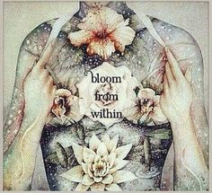 When the Flower of your Heart begins to Bloom from within, you have accessed your Divinity. Within this Sense of Peace, you see your Aura Brighten with beautiful Rainbow Colors.