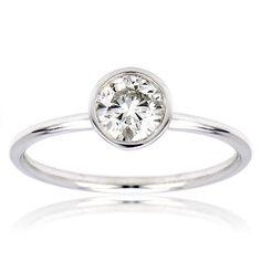 Bezel Set Solitaire Diamond Ring