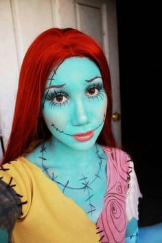 """Super cool Sally makeup and costume!! I need to have a boyfriend by Halloween so I can be this and have a """"Jack""""!"""