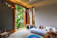 Casa Modelo by Pitta Arquitetura Large openings with mobile timber screens allow for ventilation, vi Tiny House, House 2, Clad Home, Green House Design, Timber Screens, Sustainable Architecture, Model Homes, Inspired Homes, Modern Bedroom