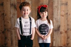 Best Friends Shirt Set - Matching Toddler Tee Shirts - Best Friends Pair BFF by GingerMooseCrafts on Etsy