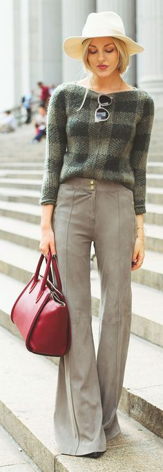 Melle Taupe Suede Bell Bottom Trousers by Peace Love Shea