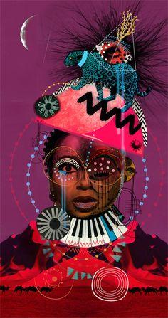 mix of illustration and photo//colour palette wrong Black Women Art, Black Art, Music Illustration, Collage Art Mixed Media, Photocollage, Purple Art, Creative Inspiration, Tattoo Inspiration, Design Inspiration