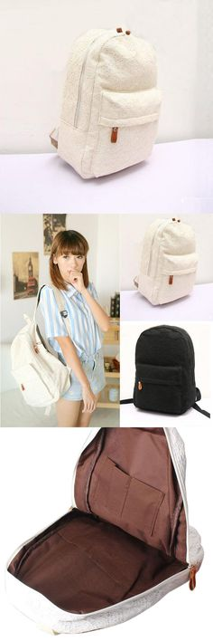 [Visit to Buy] Fashion Cute Girls Lace Canvas Backpack Female Women Bag Ladies For Schoolbag Travel Softback Bookbag Mochila Feminina Hot Sale #Advertisement