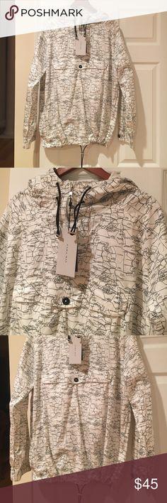 🆕NWT Zara men's hooded pull over 💙Brand new with tags!! 100% cotton Zara Jackets & Coats Windbreakers