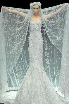Modern fairytale/karen cox. Fairy tale fashion fantasy in white. Snow / Ice Queen. Elie Saab 2007 Bridal