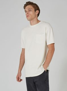LTD Ecru Textured T-Shirt