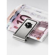 Ferma-banconote, argento/nero, acciaio legato opaco con lati lucidati a specchio, cornice nera, logo con Stella 3D sul lato anteriore, scritta Mercedes-Benz sul lato posteriore
