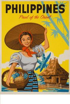 Philippines - Pearl Of The Orient - Travel Advertising Poster Philippines Country, Voyage Philippines, Les Philippines, Philippines Travel, Philippines Culture, Poster Boys, Poster Art, Retro Poster, Kunst Poster