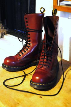 14 Hole Cherry Red Doc Martens US Ladies Sz 7 or Mens 6 by jsdnyc, $95.00