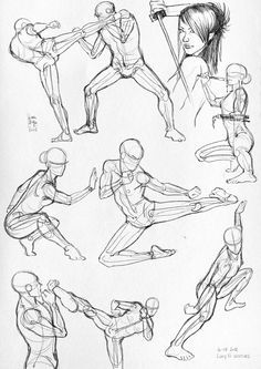 Draw tutorials: fighting poses