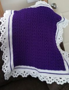 Purple blossoms baby blanket  To see more or place an order visit https://m.facebook.com/Brandyscutecrochetcreation?ref=bookmark