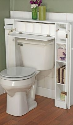 Bathroom Space Saver // clever storage design solution