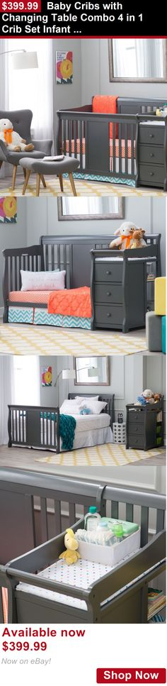 Nursery Furniture Sets: Baby Cribs With Changing Table Combo 4 In 1 Crib Set Infant Nursery Furniture BUY IT NOW ONLY: $399.99
