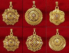 £6 GBP - 18K Goldplated Traditional Chain Pendant Designer Wedding Jewelry Bsp84A-Par #ebay #Fashion Real Gold Jewelry, Gold Jewelry Simple, Gold Wedding Jewelry, Simple Earrings, Pearl Necklace Designs, Gold Earrings Designs, Gold Jewellery Design, Gold Necklace, Gold Mangalsutra Designs