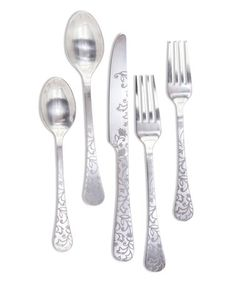 If so then this Set of 20 Silver Floral Stainless Steel Patterned Flatware is just for you! The offset floral Stainless Steel Dishwasher, Stainless Steel Flatware, Forks And Spoons, Flatware Set, Simple Shapes, A Table, Dinnerware, 3 D, Just For You