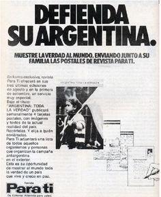 """Postales aparecidas en la Revista Para Tí en el marco de las acciones para contrarrestar la """"Campaña Antiargentina"""" (14 de agosto de 1978)."""
