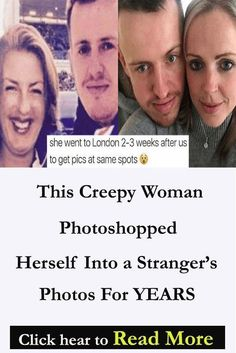 Save This Creepy Woman Photoshopped Herself Into a Stranger's Photos For YEARS This Creepy Woman Photoshopped Herself Into a Stranger's Photos For YEARS This Creepy Woman Photoshopped Herself Into a Stranger's Photos For YEARS Real Girlfriends, Engaged To Be Married, Modern Mehndi Designs, Romantic Messages, Daily Record, Creepy Stories, Strange Photos, Couples Images, Funny