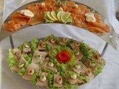 Kalte Platten : Lachs- und Forellenplatte