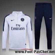 Nouveau Survetement De Foot PSG Enfant Kit Blanc 15 2016 2017 Pas Chere