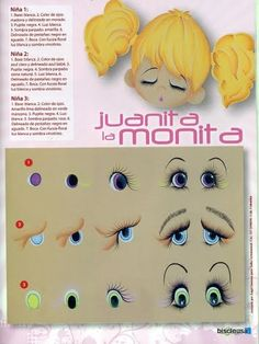 more doll eyes One Stroke Painting, Painting Tips, Painting Techniques, Painting & Drawing, Doll Eyes, Doll Face, Country Paintings, Doll Patterns, Copic