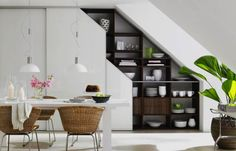 storage along stairs - Google Search