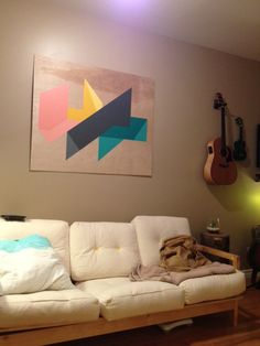 Would love to create something similar to this geometric wall hanging for above my couch.