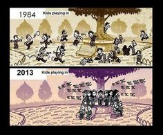 Funny pictures about Kids playing then and now. Oh, and cool pics about Kids playing then and now. Also, Kids playing then and now. Then Vs Now, Satirical Illustrations, Humor Grafico, Funny Kids, Fun Funny, My Childhood, Kids Playing, Funny Pictures, Funny Memes